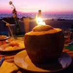 Coconut curry and sunset