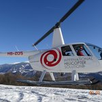 BACK FROM SCHILTHORN, AWESOME AERIAL VIEW ON OUR HELICOPTER ROBINSON R-44 CLIPPER II, FEB 2014.