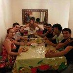 Jantar com o pessoal hospedado no Alma de Santa, aproveitando pra tirar foto com Sil do Parafern