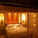 Habitacion con iluminacion nocturna