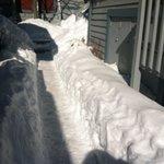 Walkway barely shoveled