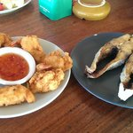 Lunch, shrimps and Queenfish