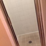 tiny shower that gets moldy - it did have some new caulk
