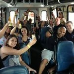 Just another day on the Brew Bus with friends and cold craft beer.