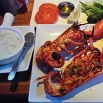 Live Maine Lobster,  grilled to perfection.