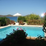 View of Villa 2028 private pool at Elounda Mare