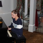 Baby grand in the sitting room