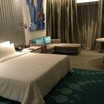 Spacious modern room