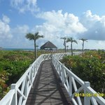 the walkway to the beach