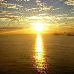 Vista perfeita! Um lindo nascer do sol.
