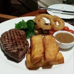 Great steak and chips