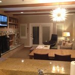 Lakeside cottage lounge