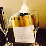 A thoughtful touch, complimentary Cava on arrival!