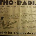 Advert describing the benefits of radium and radiation