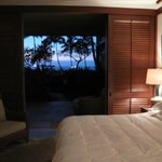 Lanai doors open in the evening
