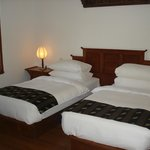 Two single beds at Governor's Residence suite in Yangon