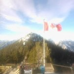 The Canadian Flag as seen from the top of the Banff Gondola