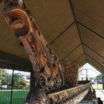Hand Carved Maori Canoe