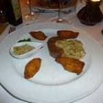 viande au champignon et croquette de pomme de terre