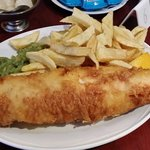 The Jumbo haddock at The Ashvale. Tastes as great as it looks.