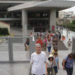 The entrance of the new Acropolis Museum in Athens