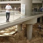 Archaeologists working in another area of the Acropolis Museum in Athens