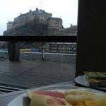 Вид из окна ресторана