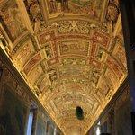 Cieling inside the Vatican museum