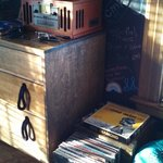 Old Skool record player with tons of records to chose from