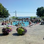 Our beautiful pool, busy on a hot July Saturday afternoon!