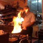 Manuel doing a flambe