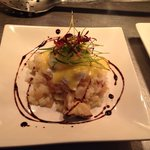 Smoked hake risotto, soft poached egg & hollandaise sauce