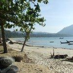 Nai Yang beach a 10 min walk