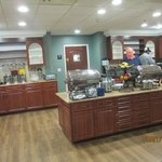 Appealing buffet area