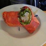 curry mango shrimp wrap