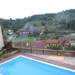 The view from the pool which overlooks the village