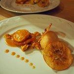 Apple tarte tatin, sorbet, apple crisp and honeycomb