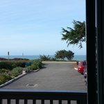 The ocean from the balcony of room 107