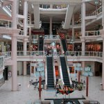 View of the atrium and the shopping levels