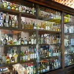Part of the extensive tequila collection