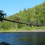 Small suspension bridge - the kids loved this!
