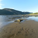 The Baie-Ste-Marguerite at low tide, late afternoon
