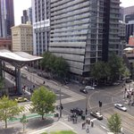 busy southern cross train station intersection