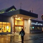 Atlantic Executive Jet terminal is a warm welcome in a cold & wet February evening!