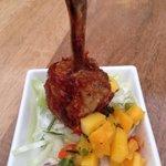 Chicken Lollipop with mango salsa