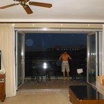lanai doors open to have indoor/outdoor living