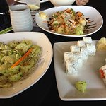 The upper one is my absolute favorite: Sushiya Gold roll :-)