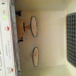 dirty ice/water dispenser on freezer door