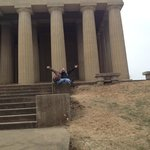 Alex and I in front of The Parthenon