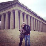 Alex and I at The Parthenon